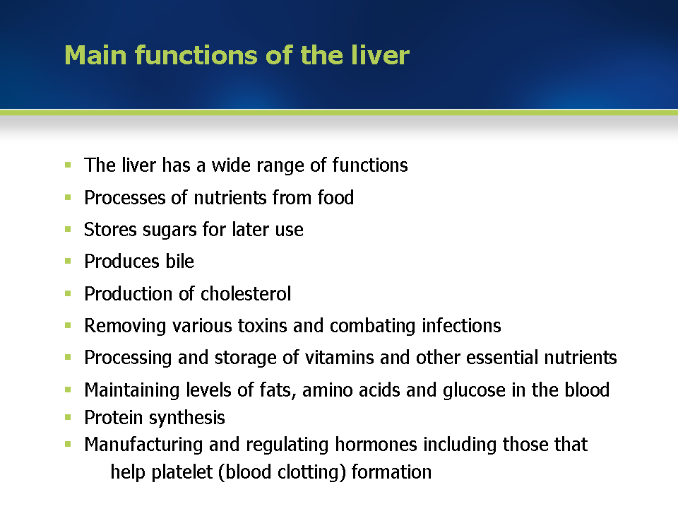 module 1: physiology and function of the liver, Human Body