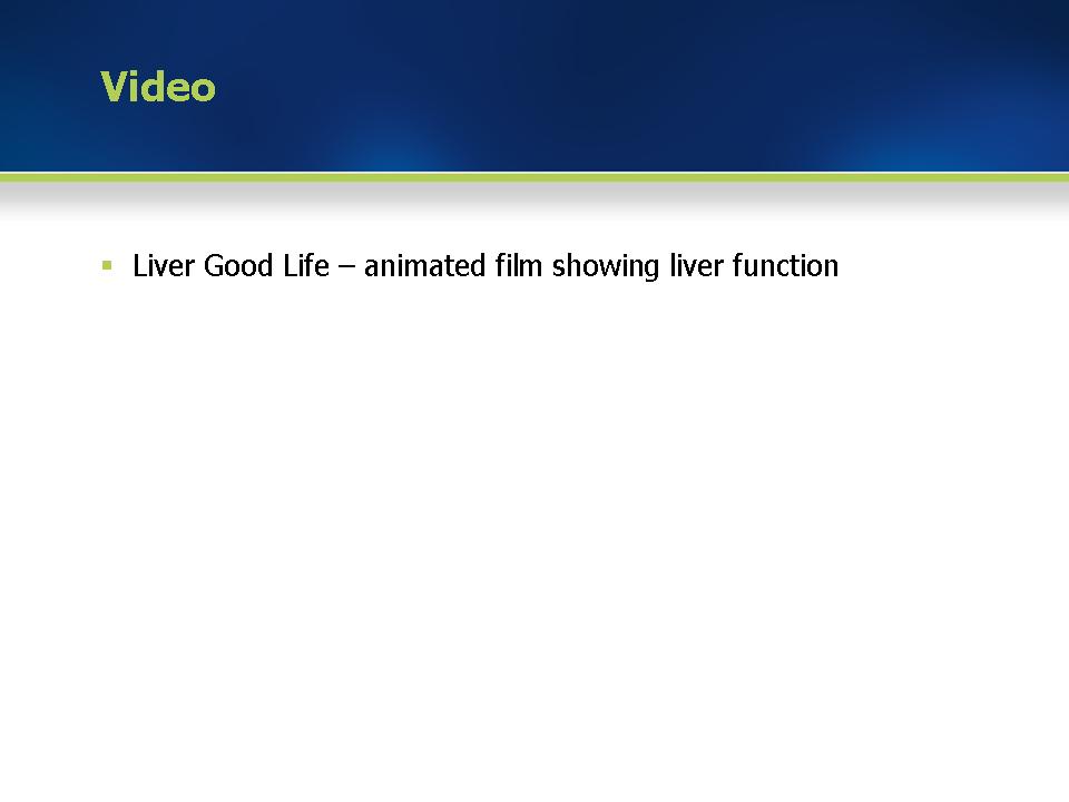 Module 1: Liver good life