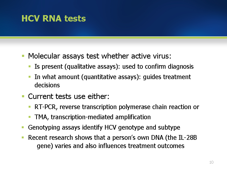Module 4 the main types of test relevant to the diagnosis and management of hcv - Test hcv periodo finestra ...