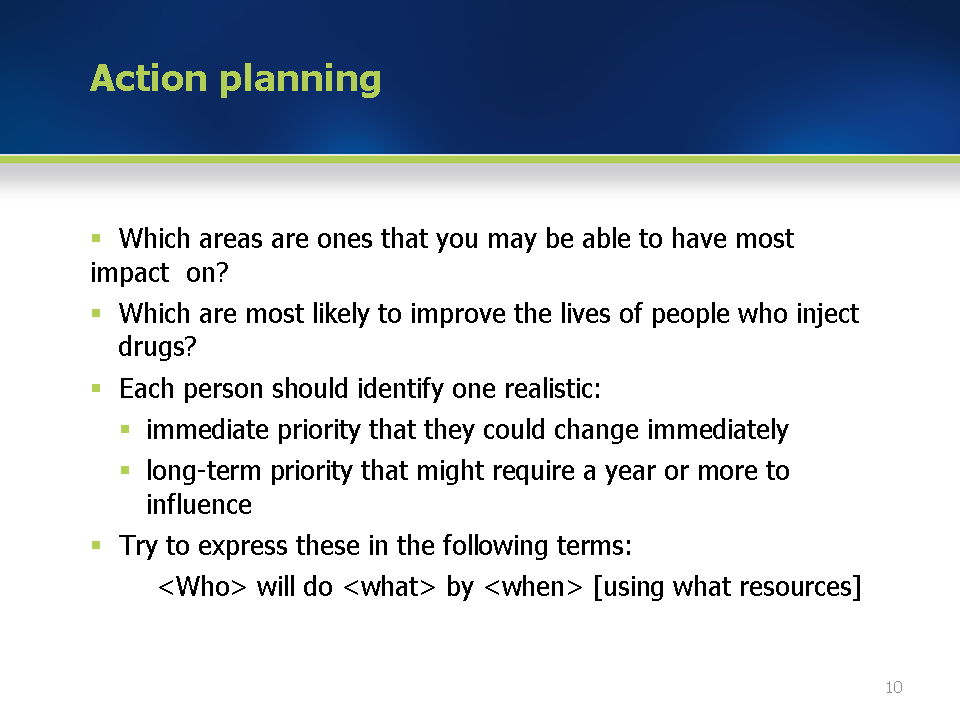 How to write an advocacy plan